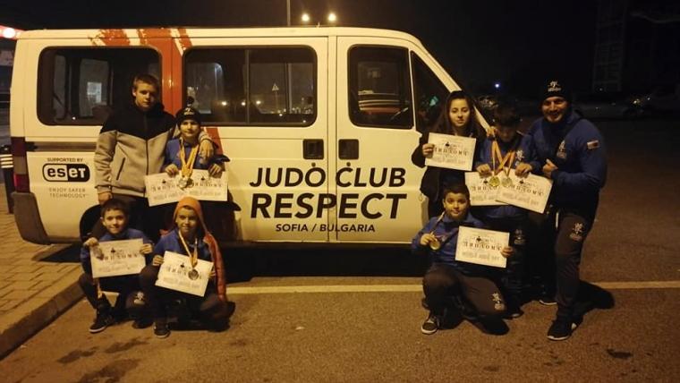 8 медала от международния турнир по джудо Mioki Skopie 2018